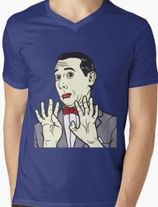 Pee Wee Herman Mens V-Neck T-Shirt