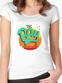 The Bay, California Women's Fitted Scoop T-Shirt