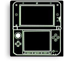 "ALIEN 3DS XL: glowing green sci-fi nintendo outline - ""The Gamer Collection"" Canvas Print"