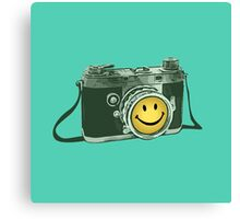 Smiley camera Canvas Print