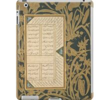 Page of Calligraphy with Stenciled and Painted Borders from a Subhat al-Abrar (Rosary of the Devout) of Jami iPad Case/Skin