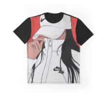 Fitness Art With Girl in Nike Graphic T-Shirt