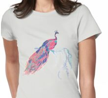 Geometric Peacock Womens Fitted T-Shirt
