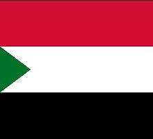 Sudan flag Stickers by Mark Podger