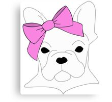 French Bow-Dog Canvas Print