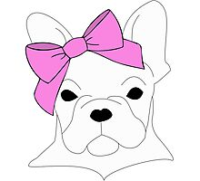 French Bow-Dog Photographic Print