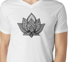 Lotus Mens V-Neck T-Shirt