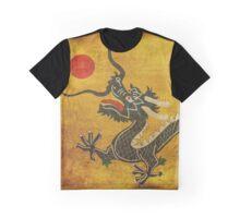 Green Dragon - Red Sun Graphic T-Shirt