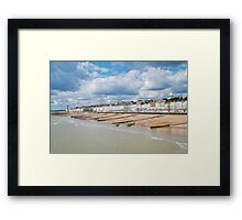 Hastings seafront from the pier Framed Print