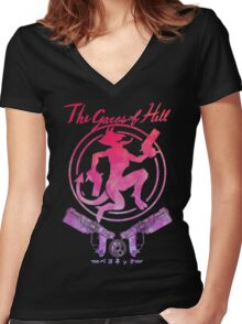 The Gates of Hell Women's Fitted V-Neck T-Shirt