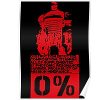 Obstruction Detected - Red Poster