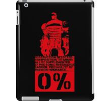 Obstruction Detected - Red iPad Case/Skin