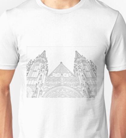 Prague castle towers Unisex T-Shirt