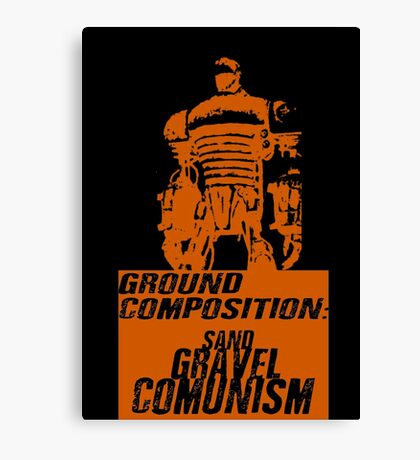 Ground Composition - Orange Canvas Print