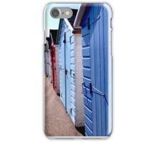 Beach Huts, Seaton iPhone Case/Skin