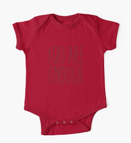 you are enough v2 One Piece - Short Sleeve