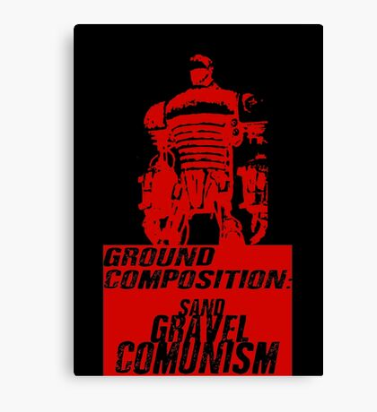 Ground Composition - Red Canvas Print