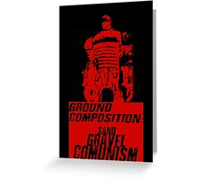 Ground Composition - Red Greeting Card