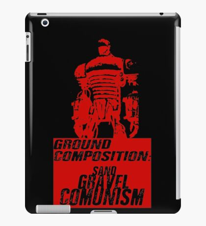 Ground Composition - Red iPad Case/Skin