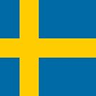 Swedish Flag Stickers by Mark Podger