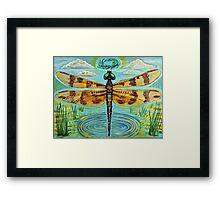 Golden Dragonfly Framed Print