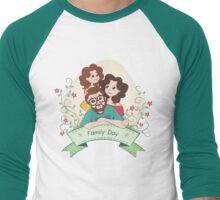 Happy Family Day Men's Baseball ¾ T-Shirt