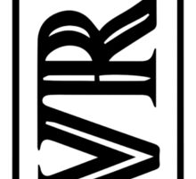 Band Logo black/white Vertical Sticker
