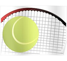 Tennis Ball and Racket Poster