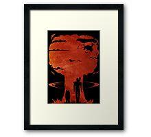 Atomic Warfare - Orange Framed Print