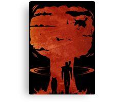 Atomic Warfare - Orange Canvas Print