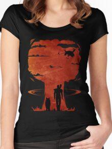 Atomic Warfare - Orange Women's Fitted Scoop T-Shirt