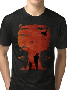 Atomic Warfare - Orange Tri-blend T-Shirt