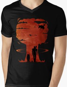 Atomic Warfare - Orange Mens V-Neck T-Shirt
