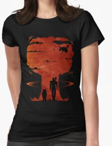 Atomic Warfare - Orange Womens Fitted T-Shirt