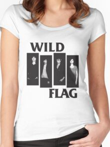 wild flag weiss carrie brownstein Women's Fitted Scoop T-Shirt