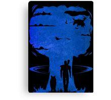 Atomic Warfare - Blue Canvas Print