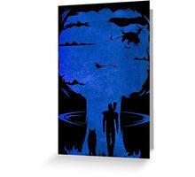 Atomic Warfare - Blue Greeting Card