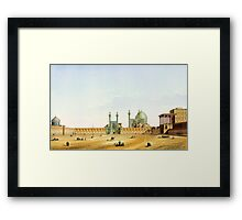 Pascal Coste's depiction of Naqsh-e Jahan Square, Isfahan Framed Print
