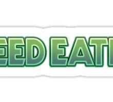 Weed Eater Parody Logo 420 Sticker