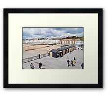 Hastings pier and beach Framed Print