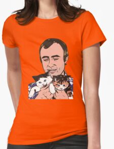 Phil Collins Kitties Womens Fitted T-Shirt