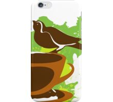 Bird on a cup of coffee iPhone Case/Skin