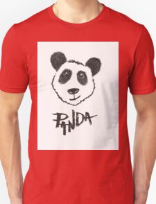 Cute Black and White Hand Drawn Panda Typography Unisex T-Shirt