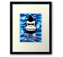 A Barrel Throwing Gorilla Framed Print