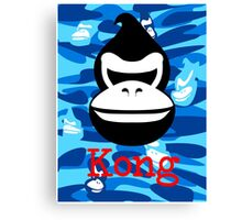 A Barrel Throwing Gorilla Canvas Print