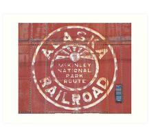 Alaska Railroad McKinley Park Art Print