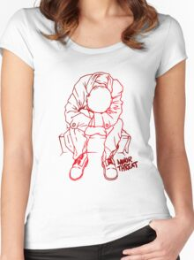 Retro Style Punk Band Women's Fitted Scoop T-Shirt