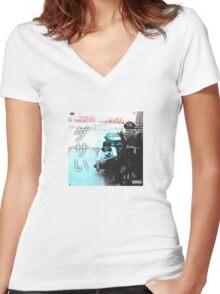 Bones Xavier Wulf Women's Fitted V-Neck T-Shirt