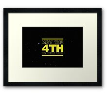 May the 4th be with you Star Wars Framed Print