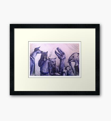 Anthro group Framed Print